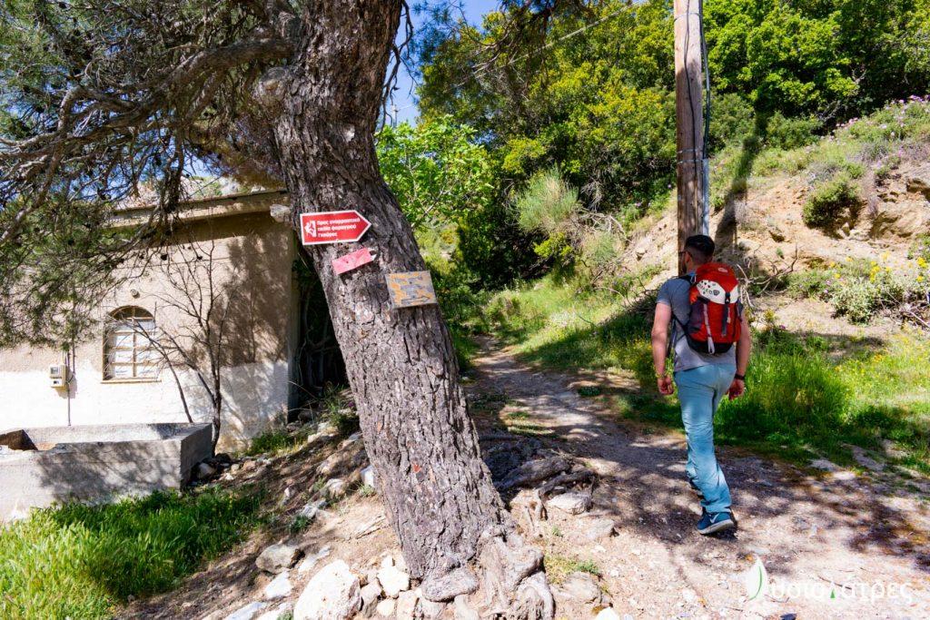 Μονοπάτι προς Via Ferrata Lagrota